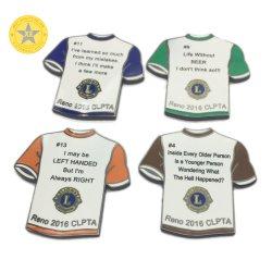 عرض الهدايا التذكارية قميص بولو بروش معدني مخصص لبروك المينا السعر الأخير لـ Pinget