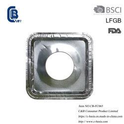 Одноразовые площади из алюминиевой фольги газовой горелкой Bib плиты покрытия гильзы