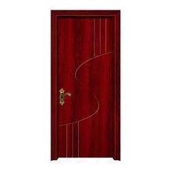 Nuevo diseño de la puerta de PVC Pintura sólida para el interior de los precios
