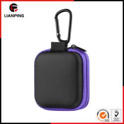 Kundenspezifischer beweglicher Arbeitsweg, der harten EVA-Kopfhörer-Kasten mit Carabiner trägt