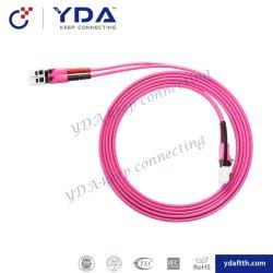 APC/UPC/PC/SC/LC FC/St/UM/MTRJ/E2000/PSG/MPO monomode duplex et simplex câble fibre optique multimode de cordon de raccordement/fibre de câble de pontage/Patchcord