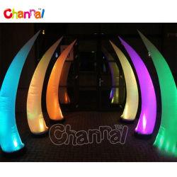 Partie de l'extérieur gonflable décoratifs Éclairage LED LED gonflable de cône de l'air pour la vente de cône