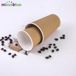 China fábrica de papel desechables de taza de café caliente