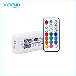 Carcasa de plástico las claves de 21 RF WiFi controlador LED RGB
