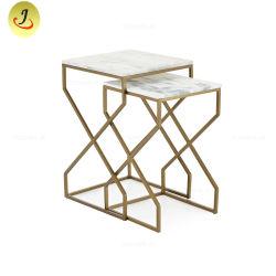 Design chinois Furnitur d'accueil salle de séjour un canapé-Table en marbre de métal
