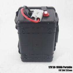 مجموعة بطارية ليثيوم أيون محمولة ذات وزن خفيف من جهة تصنيع المعدات الأصلية (OEM) بطارية ليثيوم أيون محمولة ذات 12 فولت 50ah 80ah 100ah لكاميرا LED Strip&Panel/Light