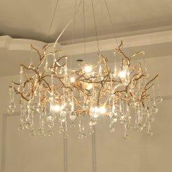 Casamento Lustre cobre decorativos exclusivos quartos possuem iluminação pendente de LED de vidro