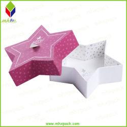 Estrela personalizada da Base e tampa de papelão caixa rígida