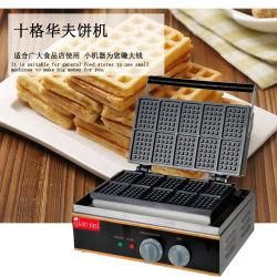 10 Rasterfeld-kommerzielle elektrische Edelstahl-Imbiss-Nahrungsmittelbiskuit-Kuchen-Zwischenlage-Waffel Maing Maschine