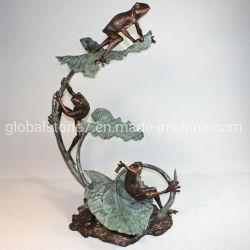 Scultura animale della rana del bronzo della statua di arti a grandezza naturale del metallo (GSBR-287)