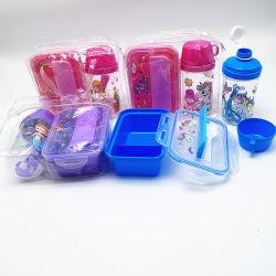물병 누출 증거를 가진 도시락은 물병 세트를 가진 플라스틱 도매 Bento 학교 점심 상자 아이를 주문을 받아서 만들었다