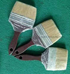 Manico in legno marrone ghiera in ferro inox pulizia larga grande Pennelli per pittura