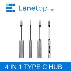 레인 탑 USB C 허브 C형 - 4K 허브 USB 3.0 USB2.0 어댑터 MacBook PRO용 마이크로 USB 충전 포트 삼성 갤럭시 S8 Huawei P20 PRO