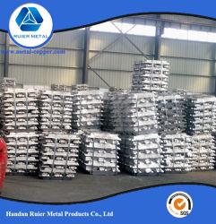 高品質のアルミニウムインゴット99.7%、99.8%、99.9%の工場供給