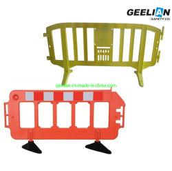 Type européen orange/blanc/jaune barrière de sécurité Sécurité Portable Movit Construction en plastique de la route de stationnement barrière de trafic