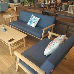 Dessins et modèles en bois de teck solide canapé de gros de bois de la Malaisie canapé fixe