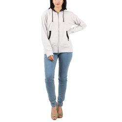 Logotipo personalizado de Inverno 2019 100% algodão branco simples Senhoras Sport Coat