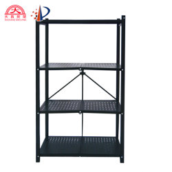 5-couche sur le fil étagère avec roues réglables sur le fil sur le fil de pliage des étagères de rack