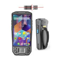Stampante terminale dell'impronta digitale tenuta in mano Android industriale di PDA con lo scanner del codice a barre