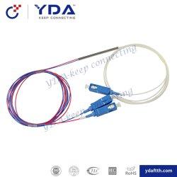 Divisore d'acciaio ottico Fbt del tubo 0.9mm della fibra di FTTH 1X2 Sc/Upc mini