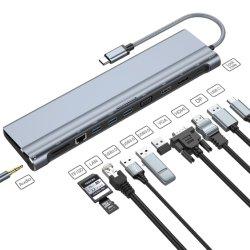 Conçu Space-Saving élégante station d'accueil USB-C s'inscrit en vertu de MacBook