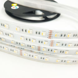 Venda por grosso de iluminação RGBW piscina impermeável LED flexível de silicone IP68 Luz de faixa