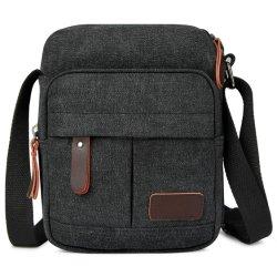 حقيبة كتف صغيرة من القماش الرجبي Satchel مع حقيبة صغيرة غير مزودة بخفة وزن طويلة حقائب تنقل تراسم الجسم للسفر لجهاز iPad Mini Kindle للهاتف