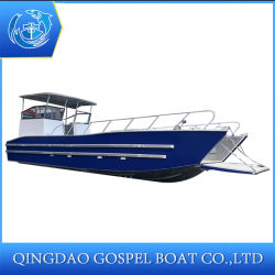 LC-1000 Barge de bateaux en aluminium de 6 tonnes Capacité Cargo