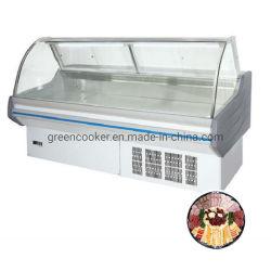 Supermercado de descongelação automática de alta qualidade Mostruário de carne/ Alimentos cozinhados Entreposto frigorífico