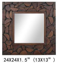 Les éléments de décoration d'accueil personnalisé de haute qualité châssis bois miroir