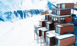A Estância de Esqui espectacular Contêiner House Hotel na Suíça, França