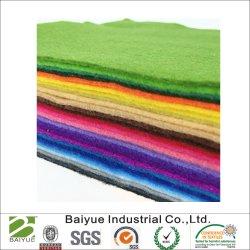 Mezcla de poliéster lana sentir en varios Color