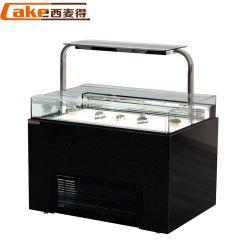 Torta di vetro refrigerata della Tabella della preparazione della bevanda del vino del frigorifero di caso di visualizzazione del controsoffitto