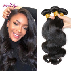 10A Virgem Corpo Cabelo Cabelo humano tecem agrupados por grosso 100 brasileiros Natural Remy Hair