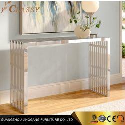 Espelho de Design oco de aço inoxidável polido, mesa console na cor da natureza