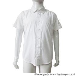 Sitz-Tasten-Hemd der Form-weißes Farben-CVC dünnes für Jungen