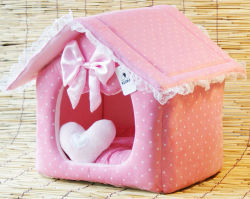 Sentiu Dobrável portátil exclusivo adorável Pet Cat Dog House