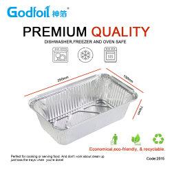 Boîte à lunch d'aluminium contenant de la nourriture pour l'utilisation de micro-ondes Restaurant