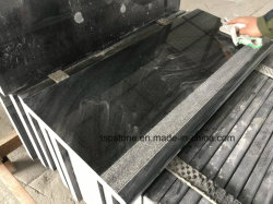 Mármore Preto populares/laje de granito/Tile/Step/Piso/lado a pedra de calçada/Escada/ o peitoril da janela/bancada