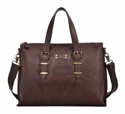 Guangzhou Factory Herren Big Size Business Echte Leathehr Schultertasche