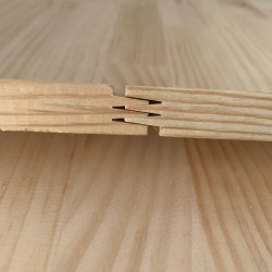 Irradiare la scheda di legno solido del pino della scheda della giuntura della barretta del pino della scheda di legno di pino