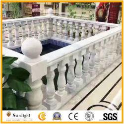 Asta della ringhiera di marmo bianca più poco costosa, aste della ringhiera della scala