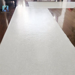 Tissu polyester blanche bon marché Sticky peintre estimé mat
