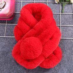 Lenço de peles de coelho Neckerchief lenço de Inverno