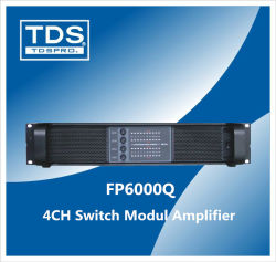 DJ 4 Canales amplificador de potencia (FP6000Q) Altavoces para DJ