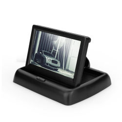 4.3-inch TFT LCD-monitor voor in de auto, opvouwbaar beeldscherm, omgekeerd Camera Parking System voor auto Rear View-monitoren NTSC PAL