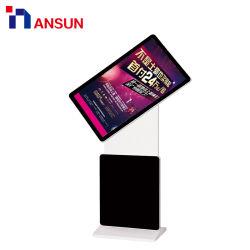 LCD van de Kiosk van de Totem van de tribune Roterende Touchscreen van de Reclame met WiFi