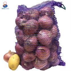 中国の供給50X80の網のRaschelによって編まれるポテトのタマネギ袋