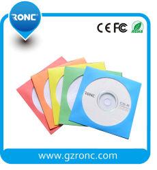 Commerce de gros coloré CD DVD Pochettes papier avec fenêtre claire