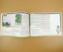 خدمة الطباعة، كتيبات خدمة طباعة الإزاحة، نشرة من جانبين، شركة طباعة ورق صور تجليد Saddle Stitch
